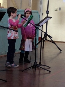 Personal writing pieces were read by students i Division 17.