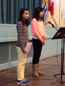 Speeches about the pros and cons of cell phones, bullying and homework reflected the opinions of our students.