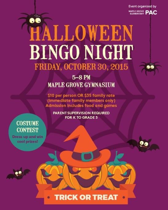 Halloween Bingo 2015