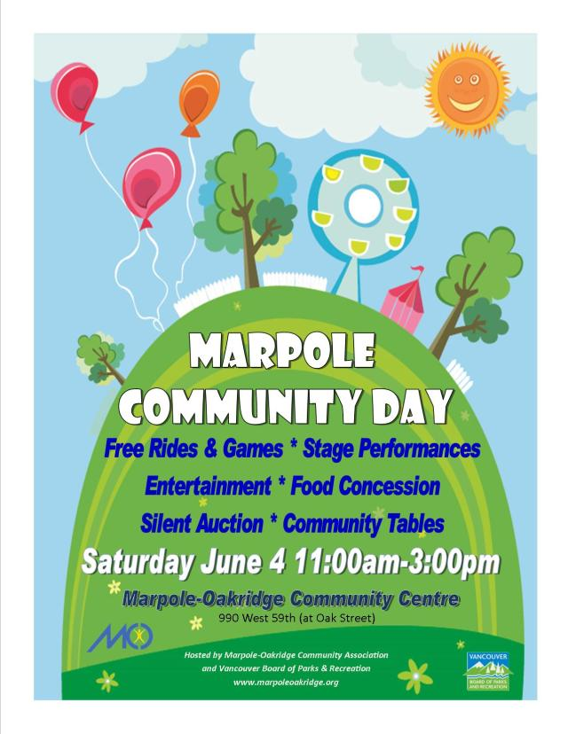 Marpole Community Day Poster 2016