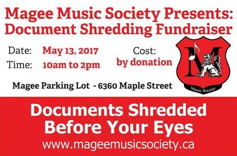 Document Shredding Fundraiser
