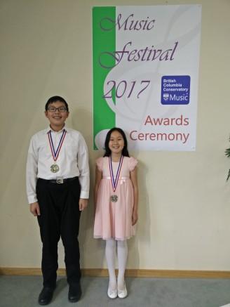 Jensen and Parissa BCCM Award Ceremony 2017