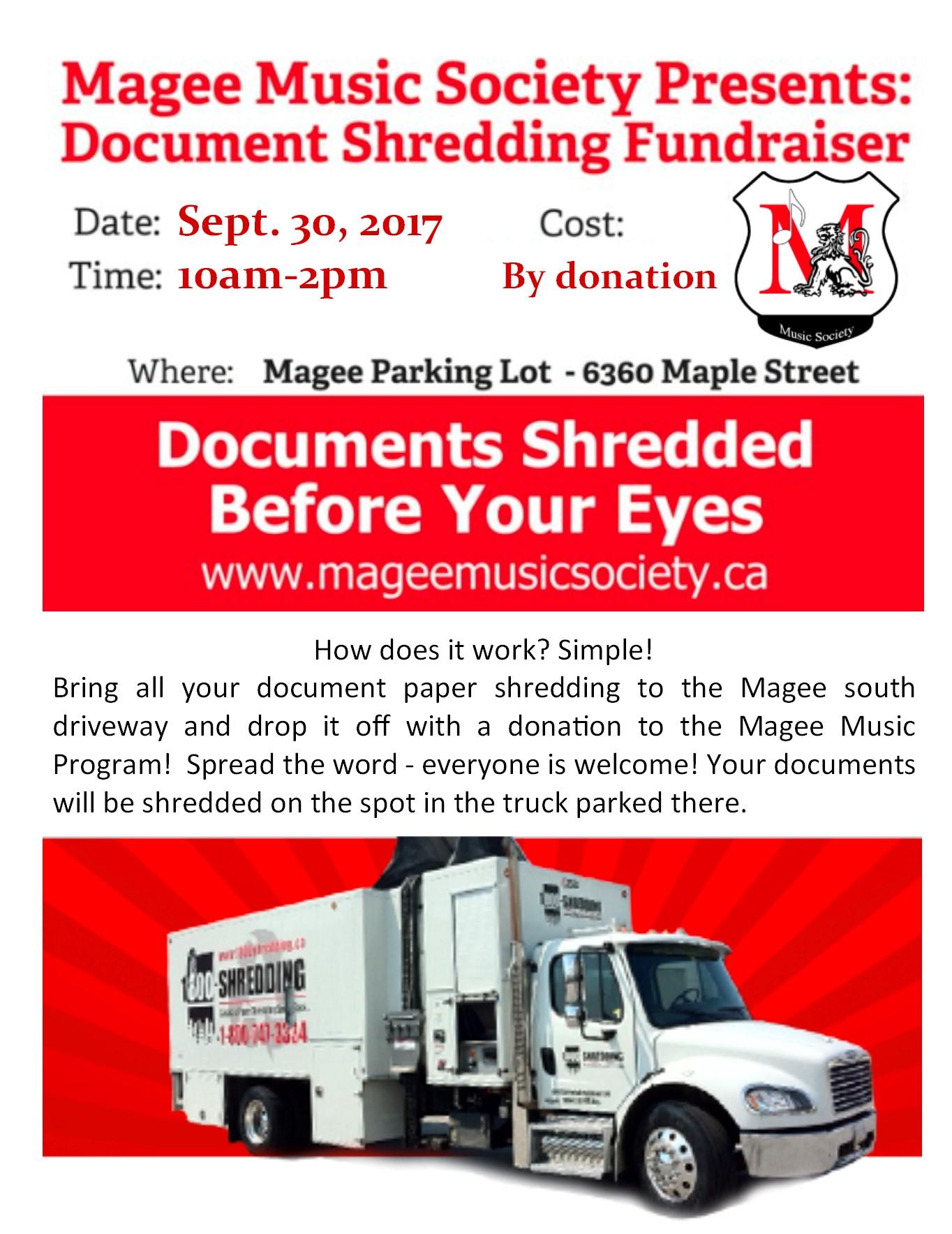 Magee shredding   Maple Grove Elementary School