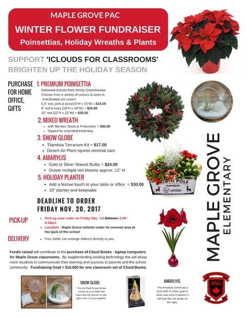 PAC flower fundraiser