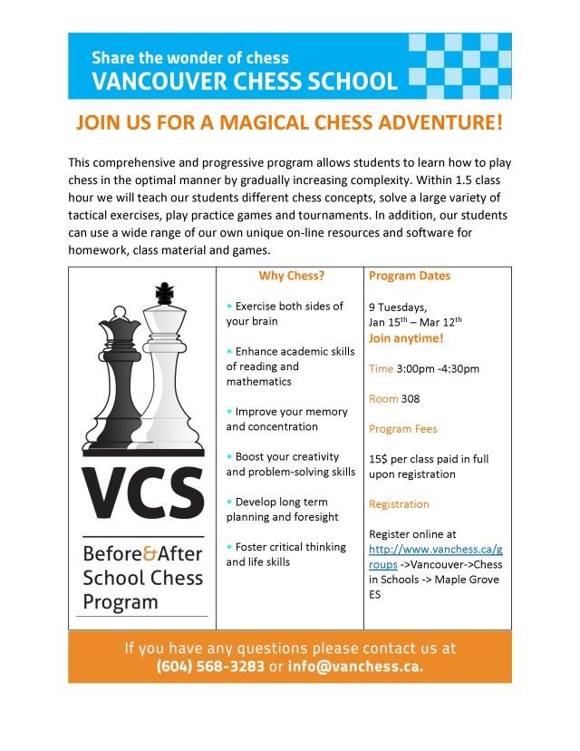 Maple Grove ES-Winter Term Chess Program